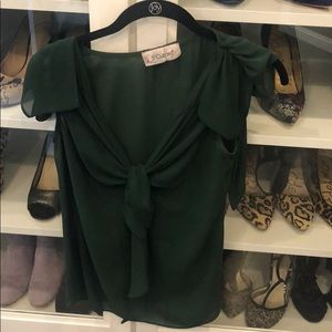 5th culture green blouse